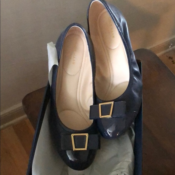 4ae602783f Cole Haan Shoes | Worn Once Emory Bow Wedges | Poshmark